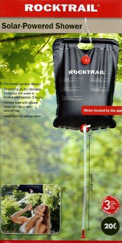 Rocktrail Solardusche (20 l)Warmes Wasser durch Sonnenenergie ideal für Camping , Treckig , Bergsteigen etc.