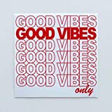 StyleMoca Thank You Plastic Bag Good Vibes Sticker Premium Quality Matte Waterproof Vinyl Stickers for Water Bottles, Tumblers, Cars, Snowboards, Laptops, and More