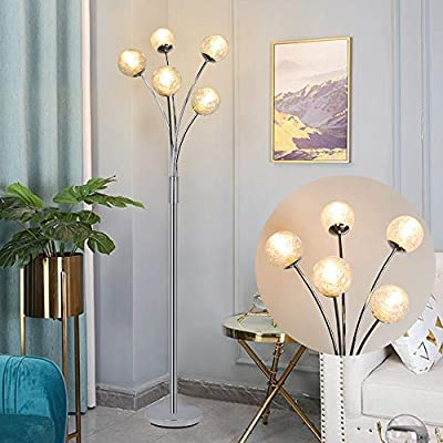 DLLT Floor Reading Lamp-Standing Floor Lamps with Adjustable Head, Energy Saving, Tall Pole Standing Accent Lighting for Living Room Bedroom Office, Torchiere Light with Metal Base, Matte Black, E26