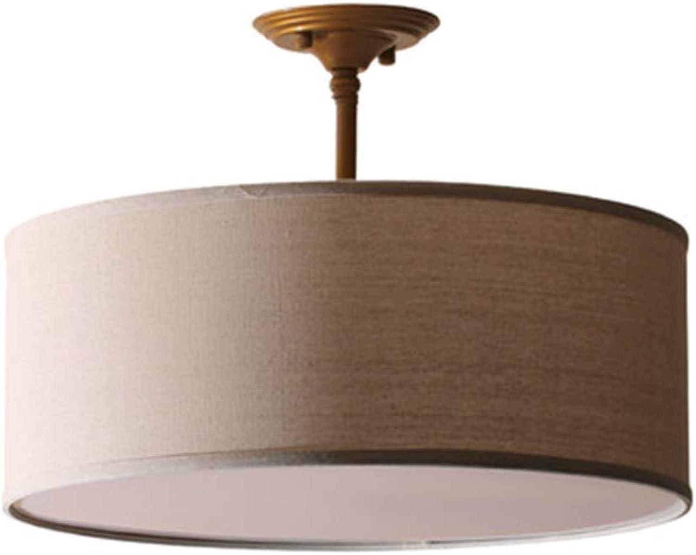 Unbekannt Moderne Aufhngung, Kronleuchter mit Textil-Schatten, 45 cm Durchmesser, 3 x E27 Lampe