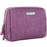 Small Makeup Bag for Purse Travel Makeup Pouch Mini Cosmetic Bag for Women Girls (Small, Purple)
