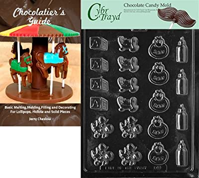 """Cybrtrayd""""Baby Deco's"""" Baby Chocolate Candy Mold with Chocolatier's Guide"""