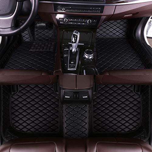 8X-SPEED Auto-Fußmatten Leder Bodenmatte für VW Tiguan 2017-2018,Volldeckung wasserdichte Anti Rutsch Anti-Kratz Alles Schwarz Automatten