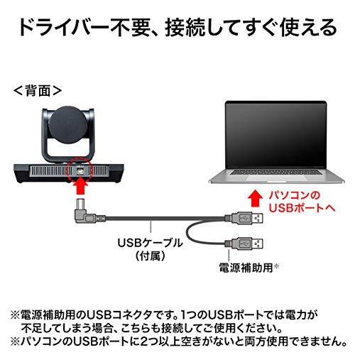 サンワサプライ3倍ズーム搭載会議用カメラCMS-V50BK