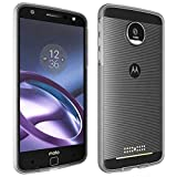 Bumper Edge for Motorola Moto Z Droid (ONLY) - Open Back for Moto Mods Compatible - Ultra Slim Shell with Protective Shockproof Design - Clear