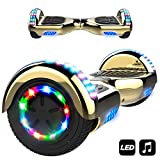 MARKBOARD Overboard Bluetooth 6.5 Pouces, Gyropode Hover Scooter Board Roues Lumineuses à LED,700W Auto-équilibré...
