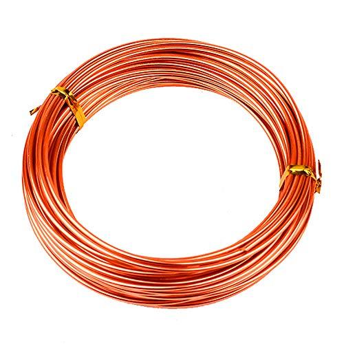 Asitlf Aluminium Craft Wire 2Roll Orangefarbene Flexible Metalldraht für DIY Fertigkeit Schmuckherstellung Verschiedene Crafts,Diameter: 1.5mm