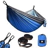 Anyoo Hamaca Paracaídas Portátil para Acampar en el Jardín al Aire Libre Capacidad de 300Kg Ligera con Bolso para Patio Trasero Playa Mochileros Acampar Escalar
