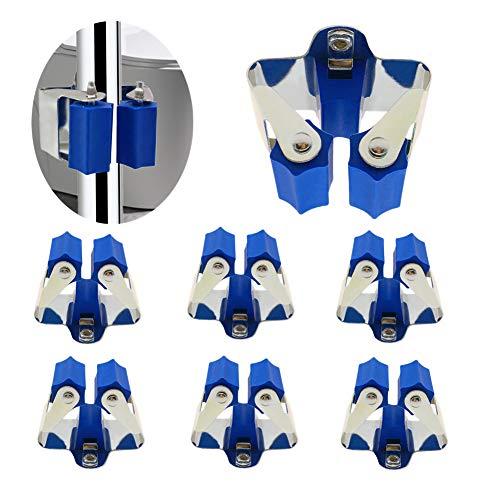Gerätehalter Besenhalter Wandhalterung optimale Aufbewahrung aller Geräte - Gartengerätehalter - Haushaltsgeräte - Werkzeug (Blau 6 Stück)