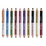 Ownest 20 Colors Eyeshadow Pencil Set,Double Head Matte Shimmer Eye Shadow Cream,Waterproof Cosmetic Eyeshadow Makeup Set-10pcs