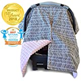 2 in 1 Carseat Canopy and Nursing Cover Up with Peekaboo Opening...
