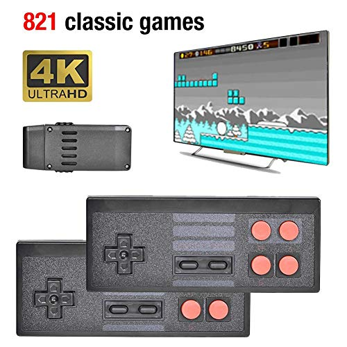 [Upgraded] Y2 4K HDMI-Videospielkonsole Eingebaute 821 Mini Classic Games Retro-Konsole Wireless Controller-Ausgang Dual Player, tolles Geschenk für Kinder Erwachsene