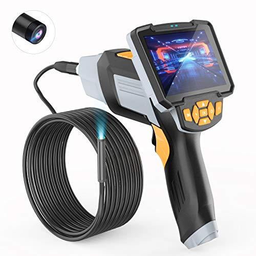 Industrial Endoscope-Borescope,Wireless Endoscope,1080P HD Digital Borescope Camera 4.3 Inch LCD Screen Snake Camera Video Inspection Camera ,Sewer Camera Semi-rigid16.4 ft Cable,With32GB Card
