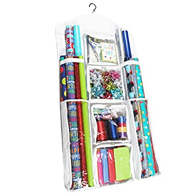 New! Legato Wrapping Paper Storage/Organizer, Double Sided and Super Durable, Great for Gift Wrap, Gift Bags, and Accessories, Extra Large (47  x 23 )