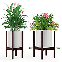 🎍Adjustable Size Planter Stand: With adjustable width, our plant stand fits 8 to 12 inches planter pots. You can pull out the stand rails to fit planter width. Easily hold various indoor plants and outdoor plants in different sizes. 🎍Mid-century Indo...