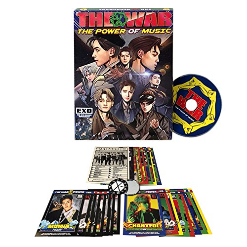 EXO 4th Repackage Album - The War : Power Of Music [ KOREAN Ver ] CD + Free Gift