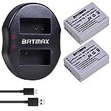 Batmax 2Packs High Capacity NB-10L Battery (1300mAh) + Dual USB Battery Charger for Canon NB-10L Battery;Canon PowerShot G1 X, G3-X, G15, G16, SX40 HS, SX50 HS, SX60 HS Digital Cameras