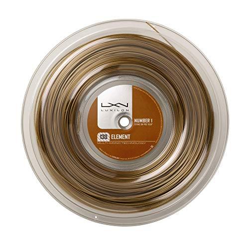 Luxilon Element Cordaje de tenis, rollo 200 m, unisex, bronce, 1.30 mm