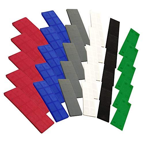 JCP Flache Glaserklötze, Distanzklötze, sortiert, flach, 100 mm x 28 mm, 1 mm bis 6 mm (gemischte 100er-Packung)