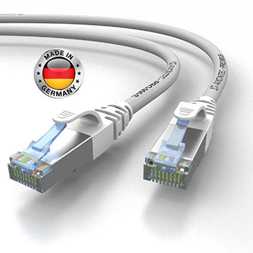 AIXONTEC® 12m CAT 7 Profi-Netzwerk-LAN-kabel-Grau Cat6a Profi-Patchkabel SFTP (Pimf) 10 Gigabit Kat7-LANKabel LEONI HIGHEND Cat7 Megaline F6-90 S/FTP flex Powerlan-kabel