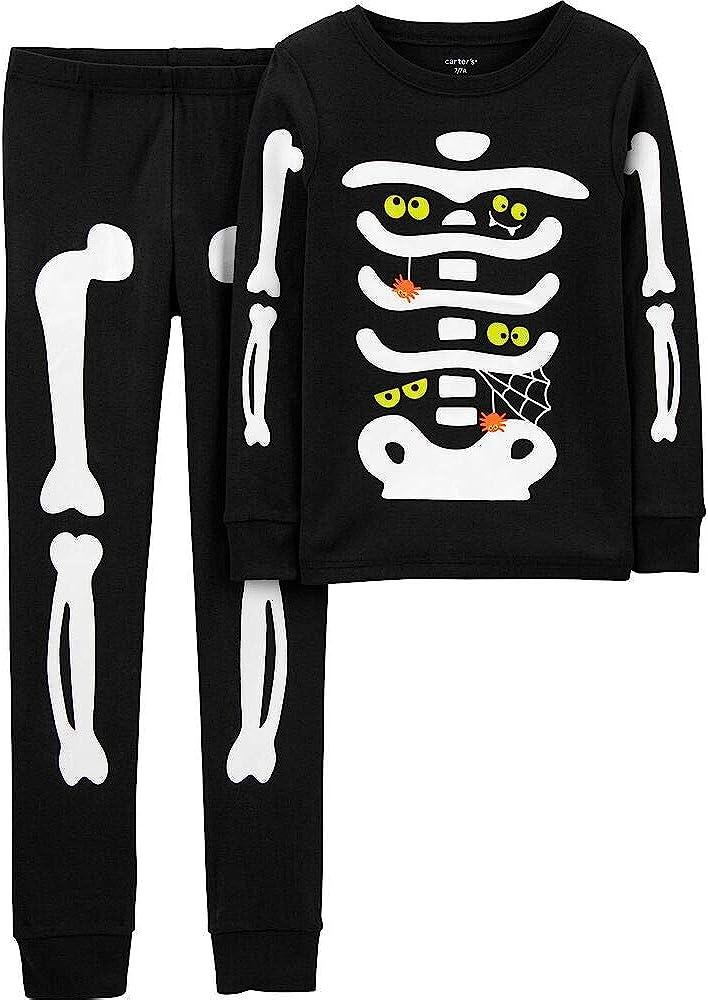 Carter's Boys' 2 Piece Glow-in-The-Dark Snug Fit Cotton Halloween PJS