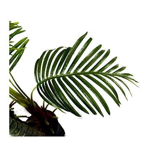 Arnusa Große Künstliche Palme Deluxe 180cm mit 3 Stämmen und 26 Palmenwedel Kunstpflanze Kunstpalme Zimmerpflanze - 6
