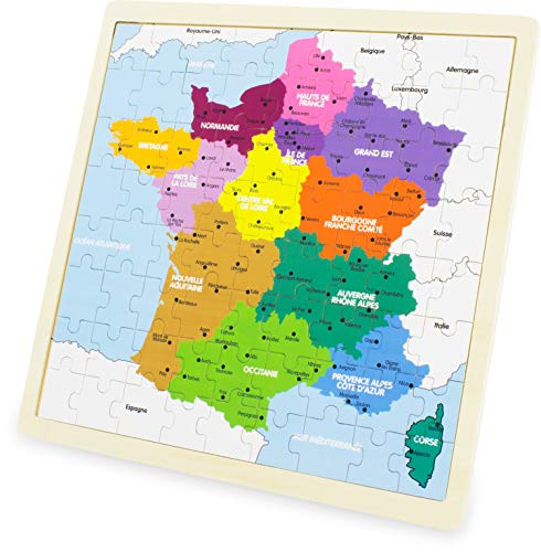 Ulysse- Puzzle, France, Carte, 3971