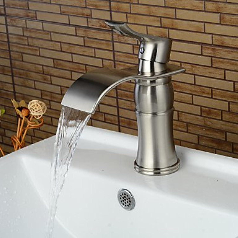 Fashion Single Handle One Hole Nickel Brushed Bathroom Sink Faucet