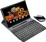 4G Tablette Tactile 10.1 Pouces WiFi 4GO RAM 64GO/128Go ROM Quad Core Tablette Android 9.0 avec Stylet Tactile OTG et Google Play 8MP Dual SIM Tablette PC 10.1 Pouces Pas Chere(Noir)