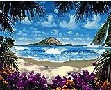 Lugar de luna de miel pintura digital sobre lienzo mural digital pintado a mano 4050 marco 40x50cm marco