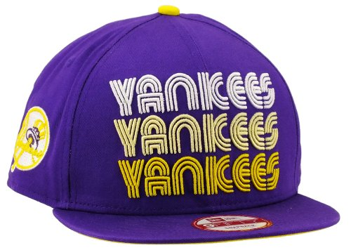 New era New York Yankees Snapback Tri Frontal Deep Purple/Cyber Yellow/White - S-M