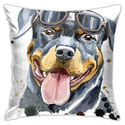 QUEMIN Spring Throw Pillow Covers Imagenes De Perros Rottweiler para Dibujar Fundas De Almohada Sofa Home Decor 18X 18Inch