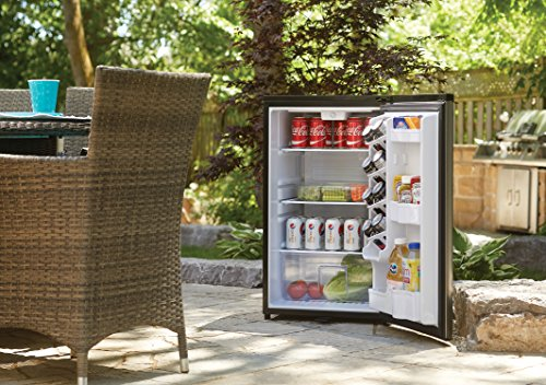 Danby DAR044A6BSLDBO 4.4 Cu.Ft Mini Stainless Look-All Fridge for Outdoor Rated for Patio, Cabana, Pool Bar, Spotless Steel