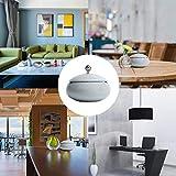 KATELUO Keramik Aschenbecher mit Deckel, Windaschenbecher für Draußen und Innen, Aschenbecher für Balkon/Terrasse/Zuhause/Büro Dekoration (hellgrau) - 6