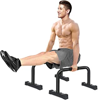 IDEER LIFE Parallettes Push-Up Bar, Parallette Bars, Gym XL Parallette Push up Stand, Upper Body Exercise Equipment w/Large Non Slip Rubber Feet &Removable Handle Grip,14x24 inch