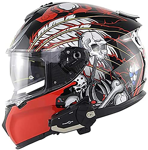 NBMNN Motorcycle Bluetooth Helmets,Motocross Helmet,Motorcycle Bluetooth Helmet Modular Full Face Flip up Dual Visor Bluetooth Headset,ECE Certification C,S=55~56CM