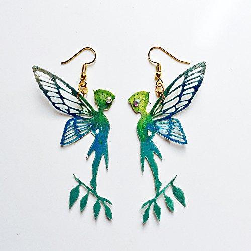 Campanilla pendientes - Joyas de Campanilla - Joyería Peter Pan - Accesorios moda - Novedad pendientes - Bisutería aretes Campanilla