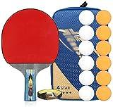 Kit Ping Pong Portátil para Interiores Exteriores Tabla raquetas de tenis con pelotas de ping pong paddle Conjuntos de murciélagos de tenis de mesa con bolsa de ping-pong raquetas Incluye 1 Batea de A