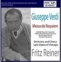 Verdi Requiem. Leonie Rysanek Soprano. Regina Resnik Mezzo-Soprano. David Lloyd Tenor. Gio