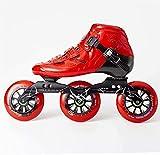 Roller Patins à rouleaux - Chaussures de patinage de vitesse professionnelles de la fibre de carbone Haute Performance Fitness Fitness Skate, destiné à l'intérieur et à l'extérieur Unisexe, adulte Pou