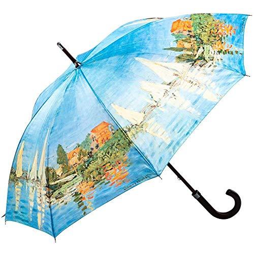 Regenschirm Stockschirm Damen Kunst Motiv Monet Regatta BEI Argenteuil