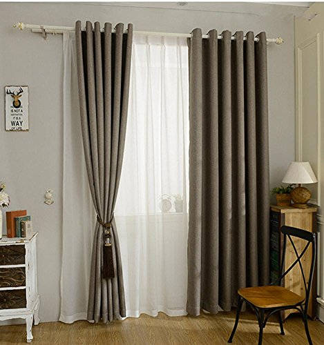 TINE HOME CURTAINS moderne stijl gordijn Solid Solor Faux Plain Linnen verduisterende gordijn voor woonkamer balkon venster op maat gemaakt-1 pc
