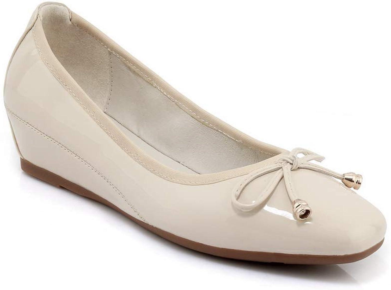 AdeeSu Womens Bows Solid Fashion Urethane Pumps shoes SDC05981