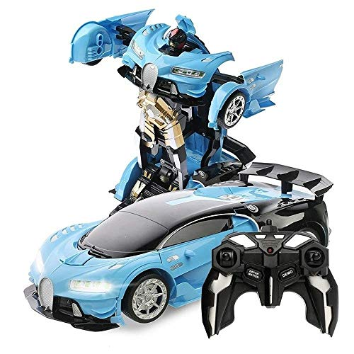 Lowest Price! Woote Kids RC Car Birthday Present 1:12 Deformation Robot Deformed Remote Control Car,...