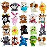 Mini Cute Plush Animals for Children, Shows, Playtime, Schools - 20 Animals Set (20 Pack Mini Plush Animals)
