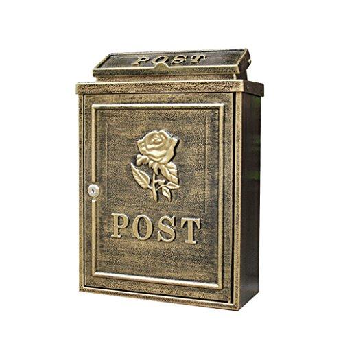 CJH Anti-oude Rozen Europese Villa Mailbox Outdoor brievenbus post regen grote tuin muur waterdichte creatieve brievenbus