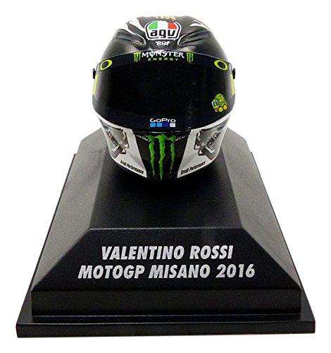 Minichamps–Casco Moto Misano GP 2016V. Rossi AGV Veicolo in Miniatura, 398160096, Scala 1/8