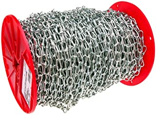 365 lbs Working Load Limit Galvanized 4//0 Trade ASC MC1374041 Low Carbon Steel Inco Double Loop Chain 5//32 Diameter x 100 Length