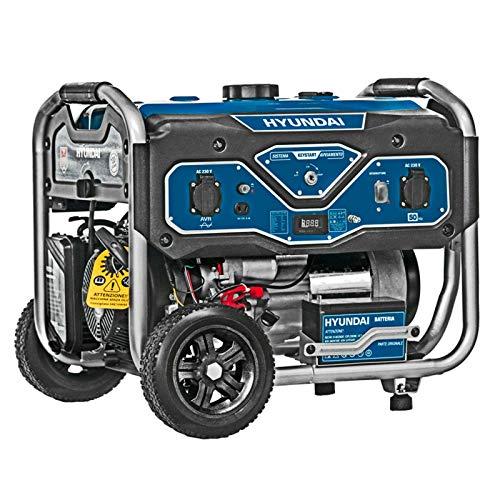 Generatore di corrente Carrellato Scoppio Hyundai 65000 3,0Kw Elettrico Monofase
