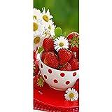 Textilposter - Banner Erdbeeren Poster aus Stoff ca 75 x